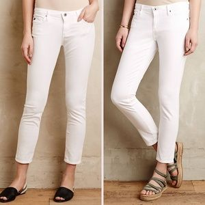 AG The Stevie Ivory Ankle Slim Straight Jeans 30R